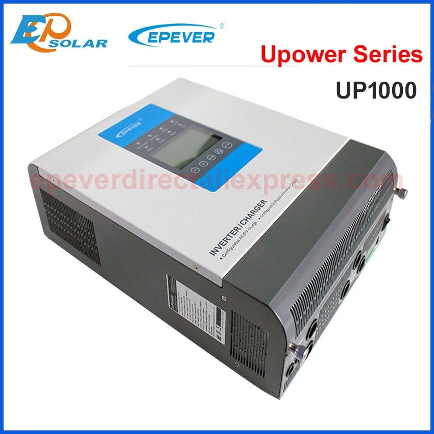 EPEVER Off Grid Inverter 1Kva Pure Sine Wave Inverter 12V/24V to 220V/230V Inverters built in mppt solar charger controller 10A