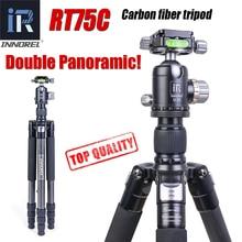 RT75C супер углеродного волокна Профессиональный штатив для цифровой DSLR камеры сверхмощный Стенд Поддержка двойной панорамный шаровой головки монопод