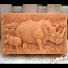 silicone mold Handmade animals soap mould food grade mold rhinoceros pattern soaps molds