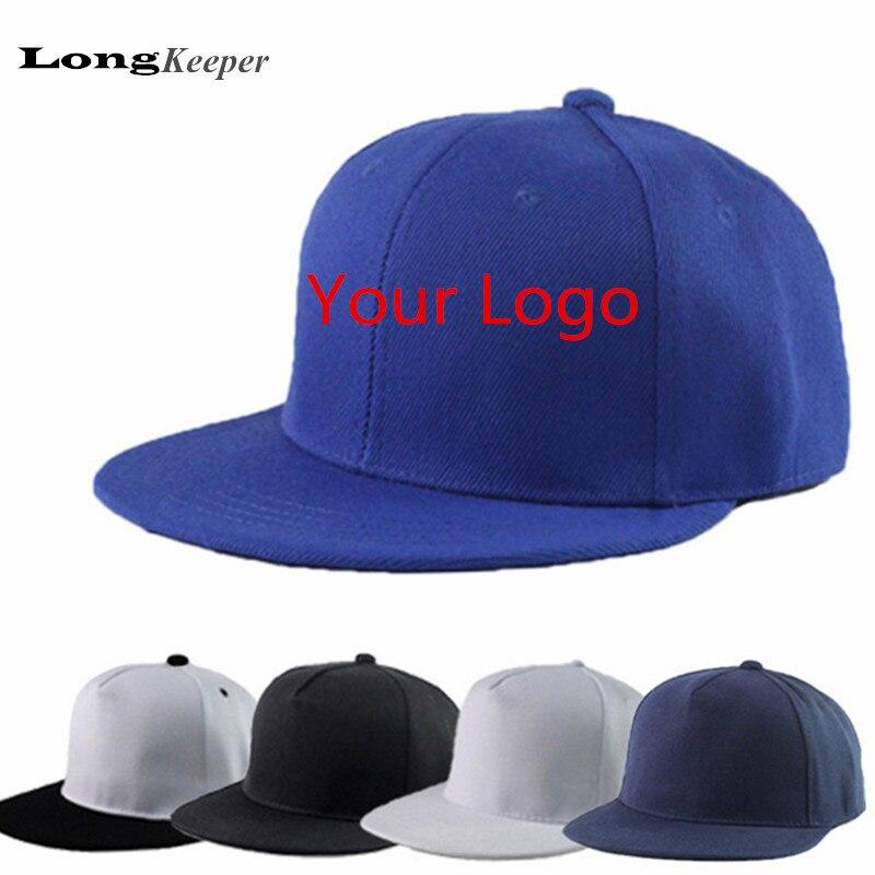 10 Pz/set Customerized Snapback Caps In Bianco Cappelli Hip Hop Personalizzato Netto Cappellini Da Baseball Marchio Del Cliente Di Stampa Per Bambini Cappelli Lkp02 Merci Di Convenienza