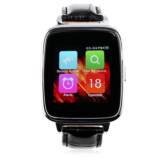 A28 OUKITEL MTK2502 Inteligente Reloj Bluetooth Heart Rate Monitor Podómetro Sleep Tracker Banda de Cuero Elegante Reloj de La Cámara Remota