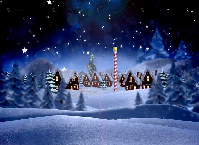 Cute Christmas Village  Snowy Landscape XMAS Backgrounds High-quality Vinyl cloth Computer printed party  backdrop fossil часы fossil fs4656 коллекция chronograph