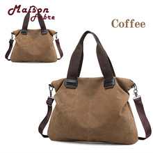 HB High Quality Women Coffee Classic retro Canvas durable Casual Totes Vintage Female Hobos Single Shoulder