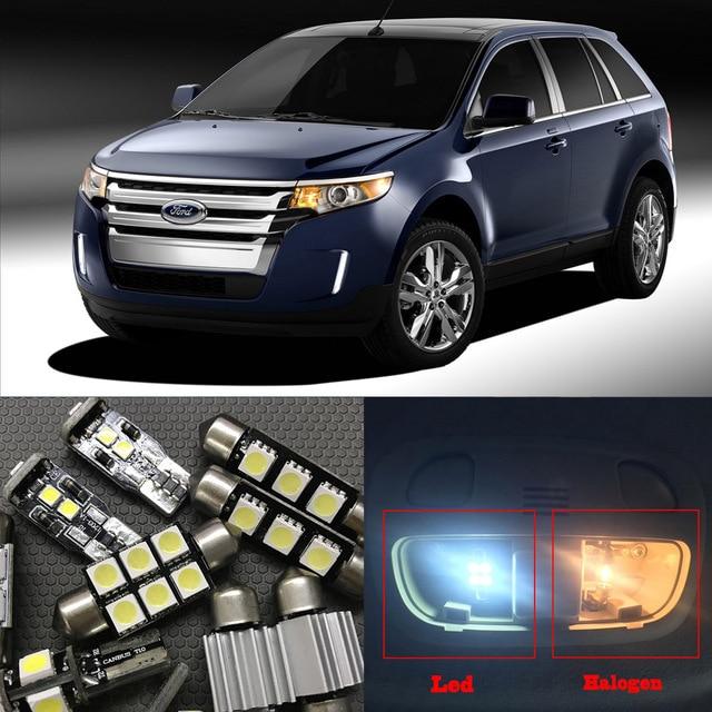 Pcs Xenon White Led Light Bulbs Interior Kit Canbus For Ford Edge
