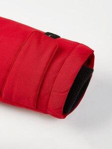 Image 5 - BOSIDENG зимнее утепленное серое пуховое пальто для мужчин, пуховик с большим меховым воротником, парка, водонепроницаемая, размера плюс, теплая, B80142509DS