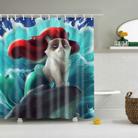 New Colorful Eco Friendly Cat Elephant Egyptian Maya Butterfly Bird Polyester High Quality Washable Bath Decor