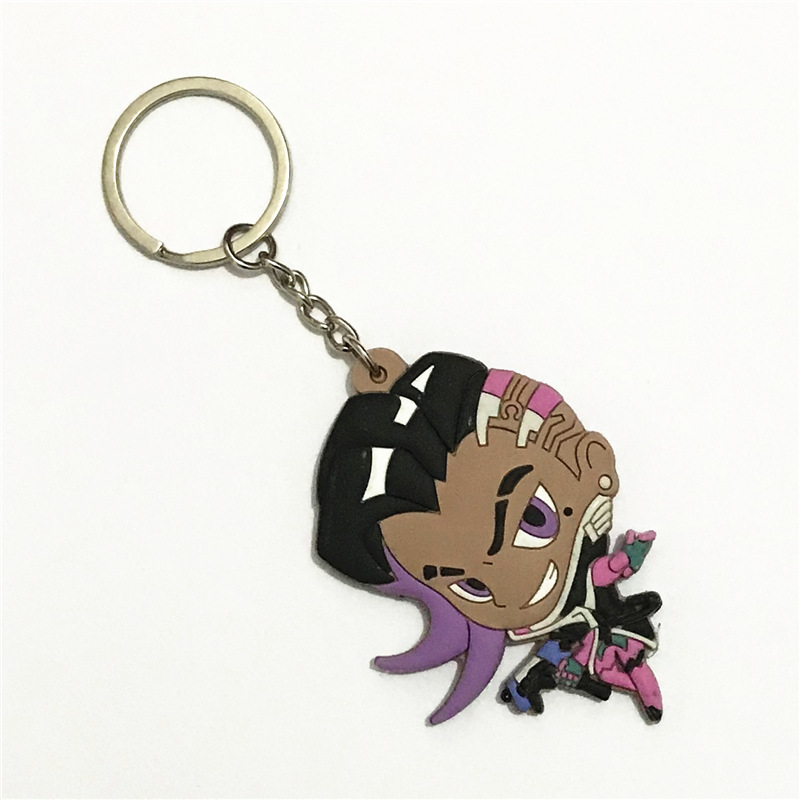 2019 Overwatch LOGO Acrylic Hero keychain Pioneer Q Version Acrylic key chains pendant car chaveiro Charm fans Unisex jewelry in Key Chains from Jewelry Accessories