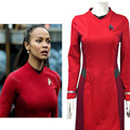 Alta calidad cosplay star trek star trek más allá de uhura nyota allá nyota uhura cosplay red dress