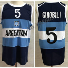 3fb90c3bd7 #5 Manu Ginobili Argentina Navy Blue Retro Basketball Jersey Mens Stitched  Custom Any Number Name