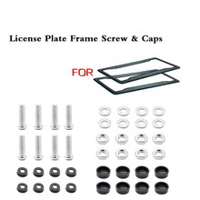 цена на 8 Pcs Black Car License Plate Frame Security Screw Bolt Caps Covers For Cars Truck