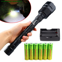 HOT!!! TrustFire 3X XML T6 18000LM LED Flashlight Torch + 6x 18650 Battery+Charger Free Shipping #NN01