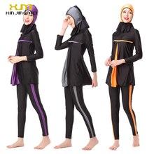 Modest Muslim Swimwear Islamic Swimsuit Women Hijab Swimwear Full Cover Muslim Swimming Beachwear Girls Swimsuit Clothes Set