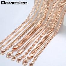 20cm Chains Bracelets for Women 585 Rose Gold Filled