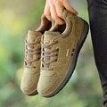 Top quality sólidos casual ao ar livre dos homens sapatos da moda 3 cores rendas até homens apartamentos sapatos de couro macio respirável sapatos de desporto homem