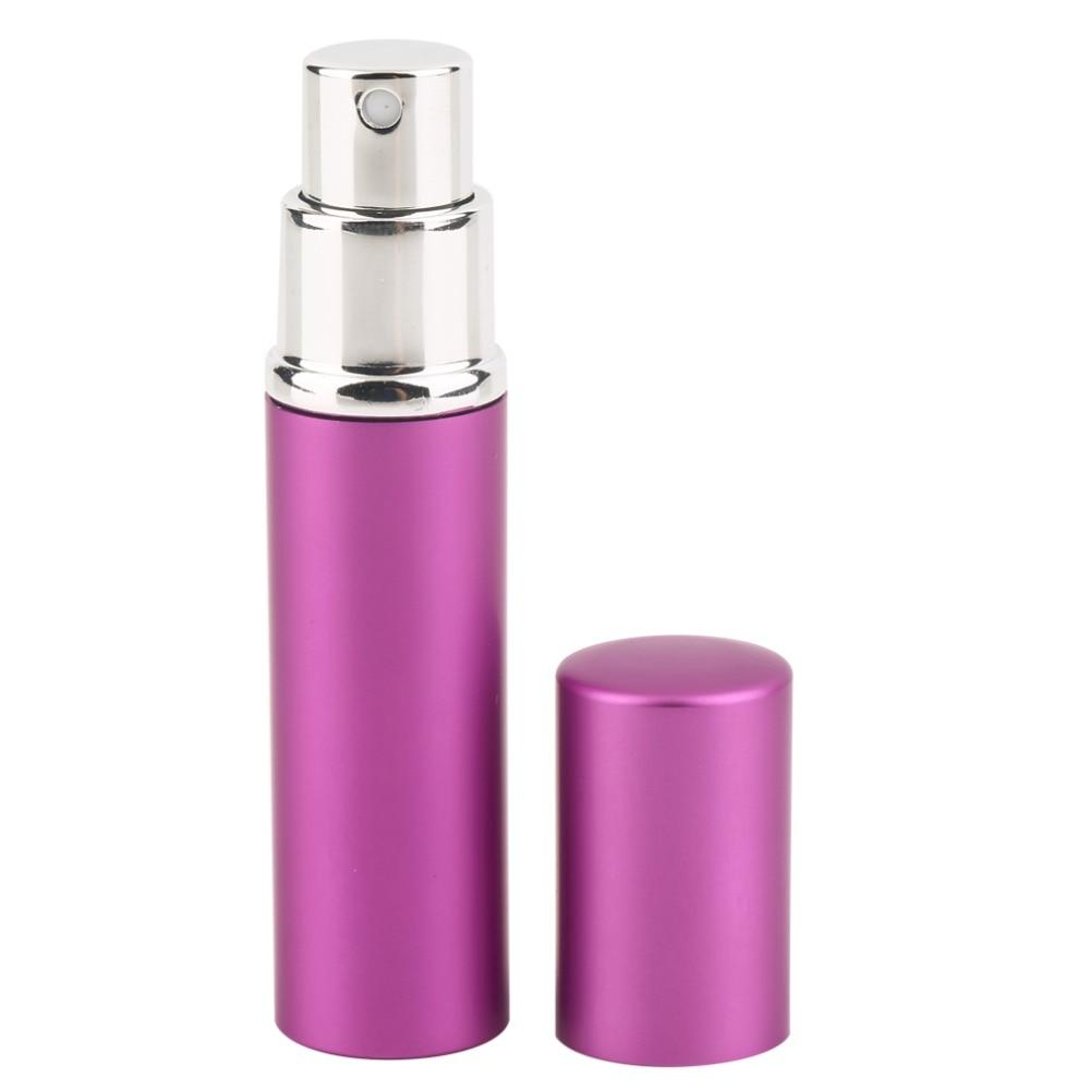 Kualitas Tinggi Tahan Lama Permukaan Halus Aluminium Logam Botol Parfum Kosong Penyemprot Isi Ulang Lady Hadiah 5 Ml Di Dari Kecantikan