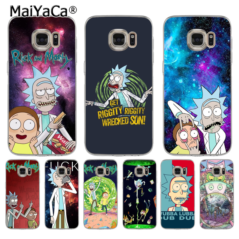 MaiYaCa Rick and Morty Season Coque Shell Phone Case for Samsung S5 S6 S7 Edge S8 Plus S6 Edge Plus S3 S4