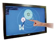 Free Shipping! 65″ USB IR touch frame truly 65 inch 2 points Infrared touch screen panel kit for lcd, led monitor or TV