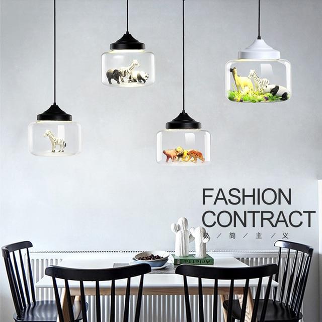 Moderne led hanglampen glas Ingebouwde verschillende kleine dieren ...