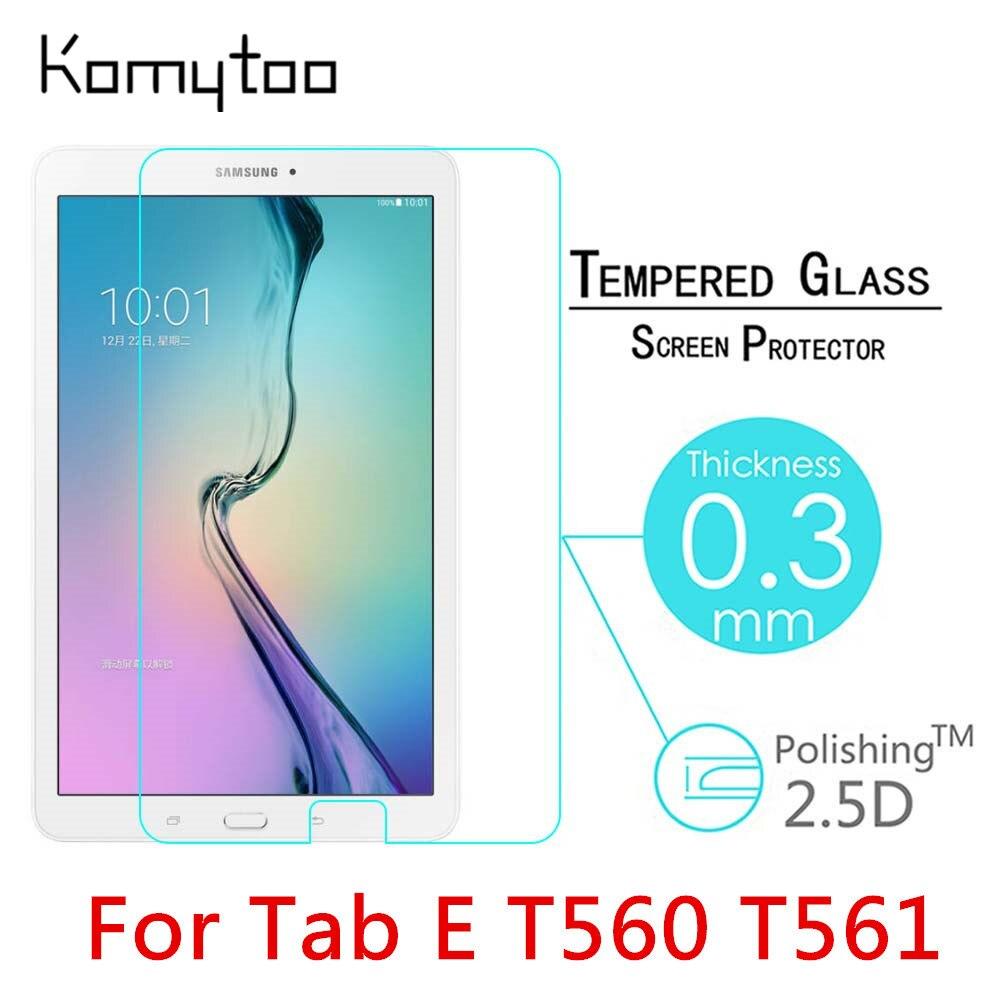 "Цена за 10 шт. 9 H 0.3 мм взрывозащищенные закаленное стекло для Samsung Galaxy Tab E T560 T561 9.6 ""пленка Clear Экран защитную крышку"