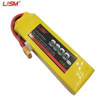 RC 5S LiPo Battery power 18.5v 3300mAh 35C For rc airplane tank toy models Free shipping #25X02