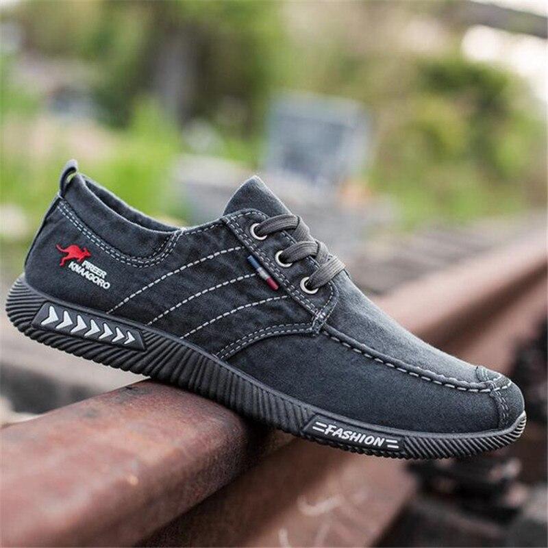 ELGEER New canvas shoes deodorant breathable men's shoes tide shoes non-slip male students tie casual stripes men shoes 2