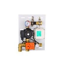 Прямая теплая смесь речной системы центр интеллекта воды диверсии орган контроль температуры смешивания шаровой клапан 25 мм резьба 1 МПа