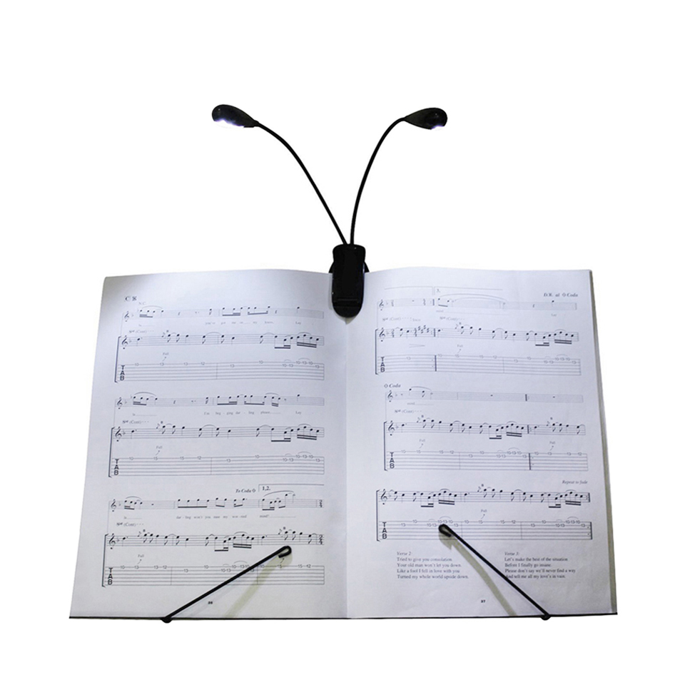 Jiaderui LED Reading Lamp Dual Arms 2LED Flexible Book Sheet Music Stand Reading Lights Student Dormitory Clips Lights Low Power reading explorer 5 student s book cd rom