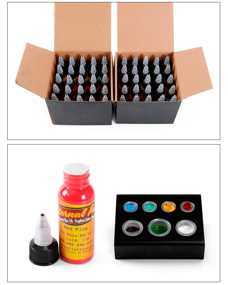 1 Color Tattoo Ink Set 1 Ounce 30 Ml /bottle Permanent Tattoo Paint 16 Colors Tattoo Pattern Body Painting Makeup Beauty Tattoo