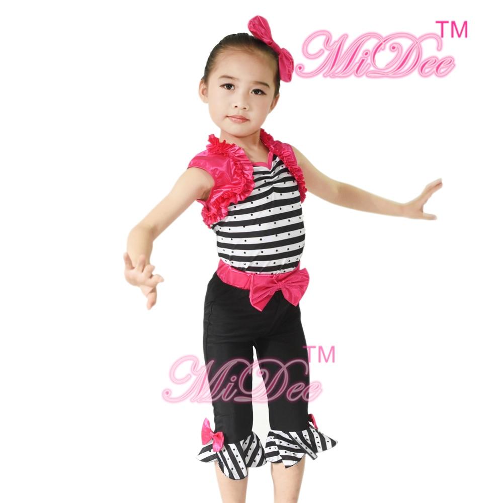 MiDee Niños Trajes de baile Vestido de jazz Ropa de baile de salón Ropa de baile linda Disfraz de escenario Chicas encantadoras