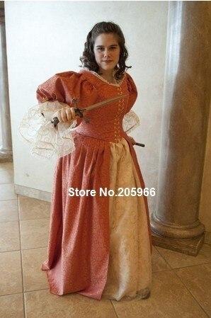 Jahrhundert 3 Musketiere Ära Cavalier Kleid Kleid 1700 s ballkleid ...