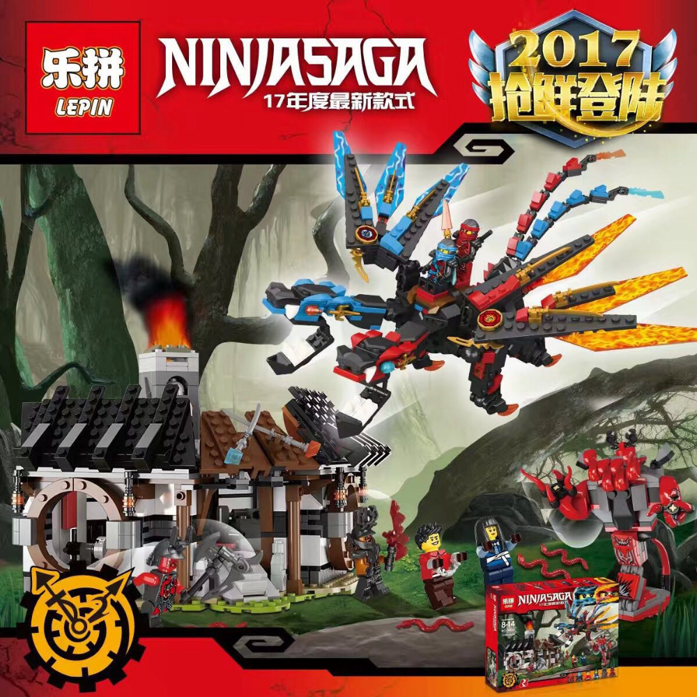 ФОТО lepin ninjagoed series dragons forge building blocks bricks ninja model kids toys marvel minifigure compatible legoe