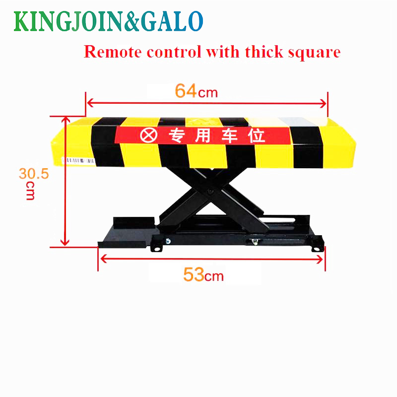 waterproof battery powered car safety parking lock /parking barrier posts/Remote Control Car Parking Lock Barrier(no battery) half ring shape of the block machine parking barrier lock