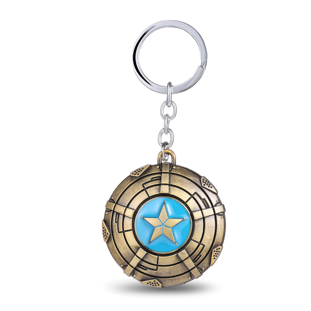 MS JEWELS Movie Gifts The Avengers Captain America Keychain Metal Key Rings Chaveiro Key Chain