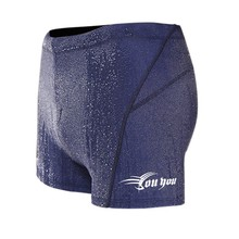 Men Boxer Waterproof Quick Dry Men Short Hot Spring Trunks Blue Black Color new j5