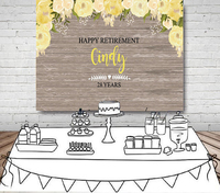 custom Retirement Rustic Floral Dessert Table photography backgrounds High quality Computer print party photo backdrop