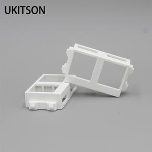 1 Piece Empty Slot With Two Holes Wall Frame For Insert Coupler HDMI USB RJ45 Keystone Socket(China)