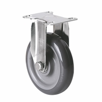 EDL Light Duty 4 90Kg Polyurethane Double Ball Bearing Rigid And Swivel Type Small Industrial Stainless