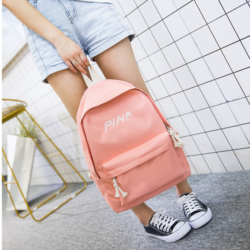48606ac3ceac Detail Feedback Questions about 4 Colors Pink Green Black Yellow Casual  Canvas Backpack Simple Student School Bags for Teenage Girls Boys Laptop  Casual ...