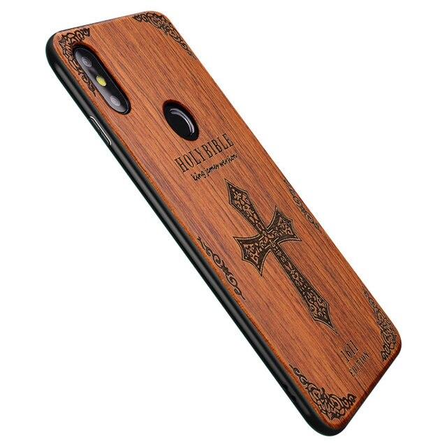 06333cabd Unique For Xiaomi Mi 8 Case Original Boogic Slim Bamboo Wood TPU Back Cover  Case For Xiaomi Mi 8 SE Phone Cases Customized