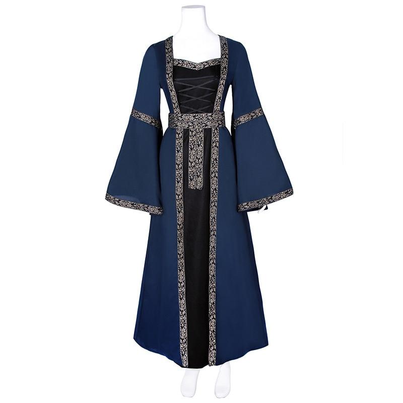 Women European Court Victorian Costumes Gothic Medieval Renaissance Long Dresses Gothic Costume Europe Court Dress