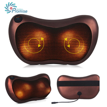 2016  Kneading Neck Massager Pillow Infrared Shiatsu Electric Shoulder Back Massager Car Cervical Vertebra Therapy