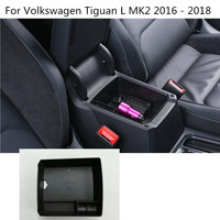Car Inner Storage Trim Container Center Console Cup Holder Gear Box Frame For Volkswagen VW Tiguan