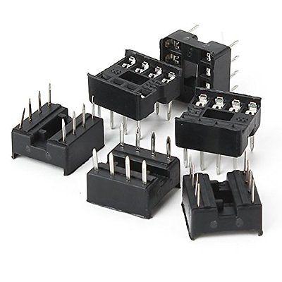 100PCS 28pin 28-Pin DIL DIP IC Socket PCB Mount connecteur nouveau