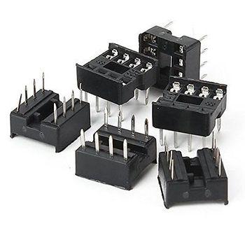 цена на 100PCS 8-Pin 8pins DIL DIP IC Socket PCB Mount Contor NEW GOOD QUALITY