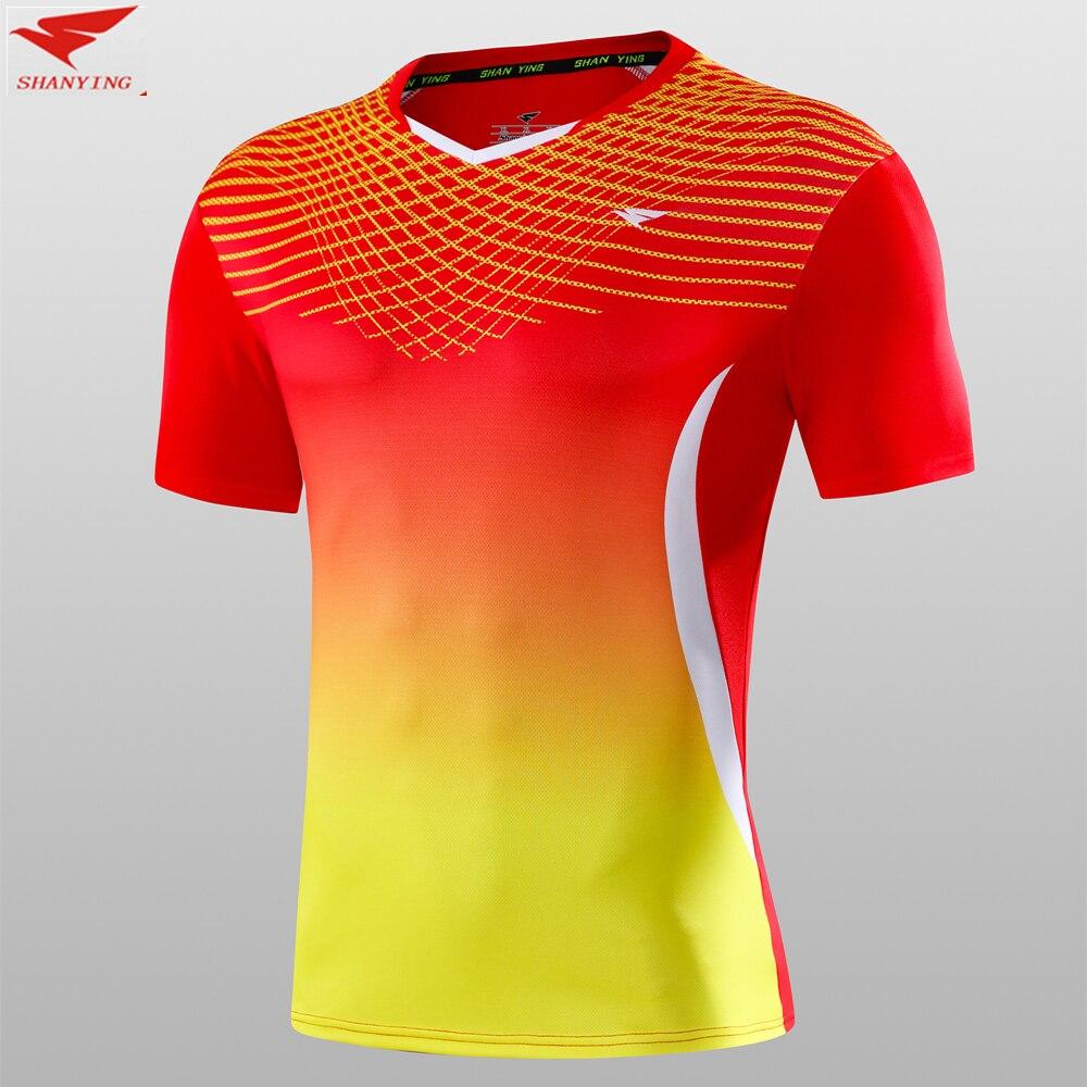 Top qualité Hommes maillots de football tennis de table football chemises sport running fitness badminton jersey à séchage rapide $1.8 impression personnalisée