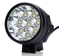 12000 Lumens 8x 8T6 XM L T6 LED פנס פנס אופניים אופני אור פנס עמיד למים + 8.4 V 18650 סוללות + תשלום|פנסי חזית|פנסים ותאורה -