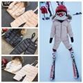 Детский зимний костюм пуховые теплые костюмы для мальчиков и девочек