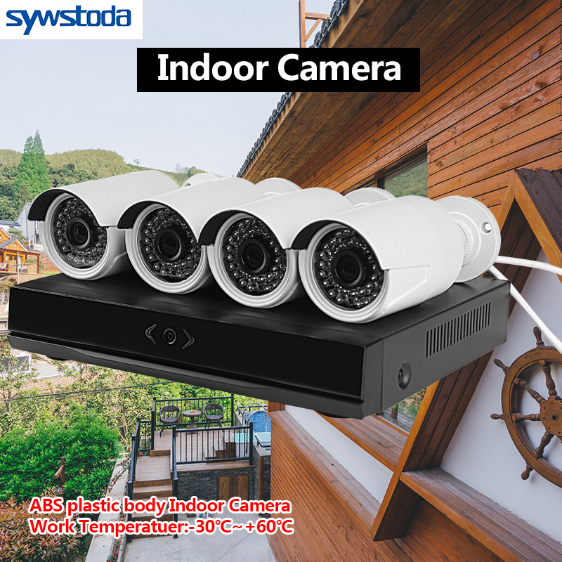 H 265 4CH CCTV System 5MP 3MP 2MP Metal Outdoor IP Camera 4CH 1080P POE NVR Kit Alarm Email Night Vision APP PC Remote in Surveillance System from Security Protection