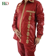 H&D ropa African bazin pants plus traditional dashiki tops for men