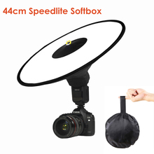 Universal Flash 44cm Easy-Fold Round Speedlite Diffuser Camera Softbox Reflector for Canon Nikon Sony Camera DSLR Macro Shooting